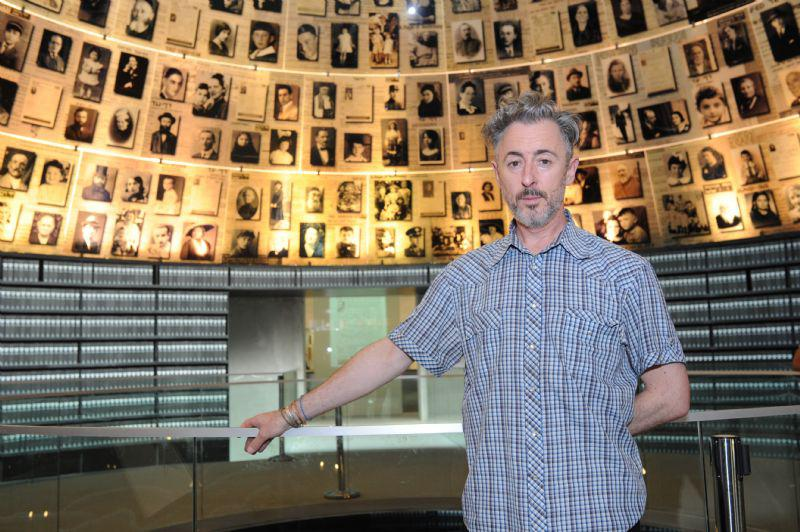 Alan Cumming toured the Holocaust History Museum, including the Hall of Names
