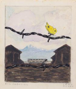 Karl Robert Bodek's One Spring (Watercolor, India Ink and Pencil on Paper) Collection of the Yad Vashem Art Museum