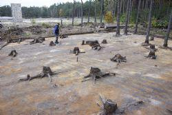 The excavations at Sobibór uncovered signs of mechanical equipment used by the Nazis to dismantle the camp