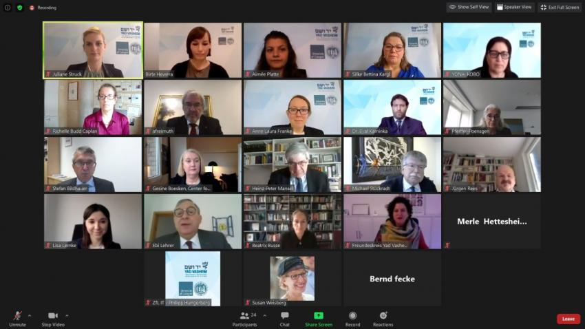Virtual signing event of the cooperation agreement between Yad Vashem and the University of Cologne