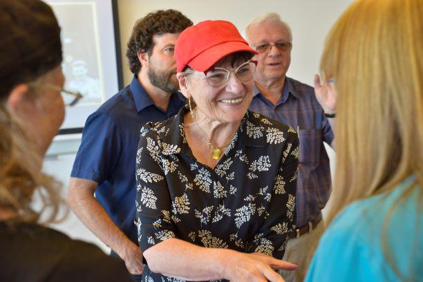 Shulamit Imber during a training session at the International School for Holocaust Studies