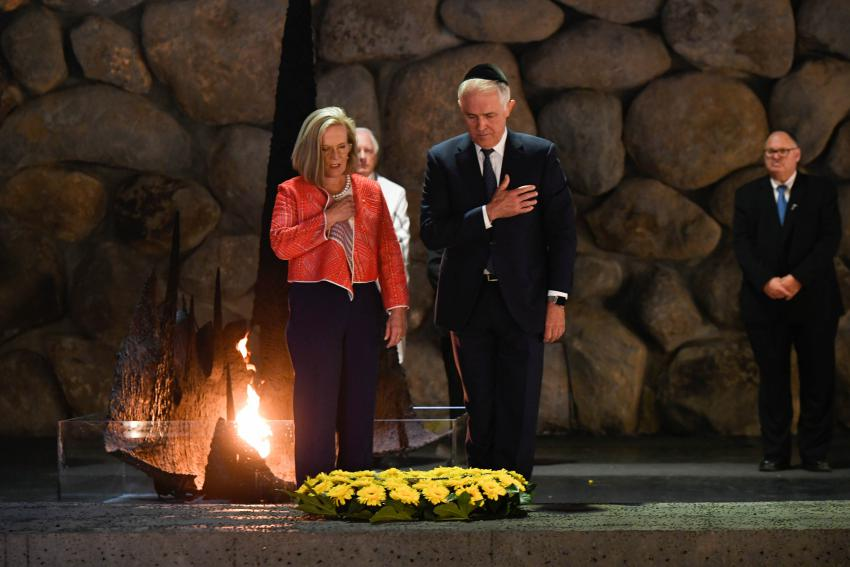 During his visit to Yad Vashem on 1 November, 2017, Australian Prime Minister Malcolm Turnbull participated in a memorial ceremony in the Hall of Remembrance