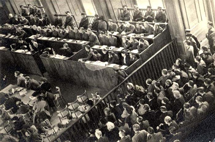 Cracow, Poland, A view of the courtroom at the Auschwitz trial