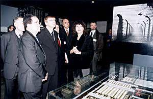 H.E. Mr. Roman Prody (2nd from left) and H.E. Mr. Guy Verhofstadt (3rd from left) in the Historical Museum