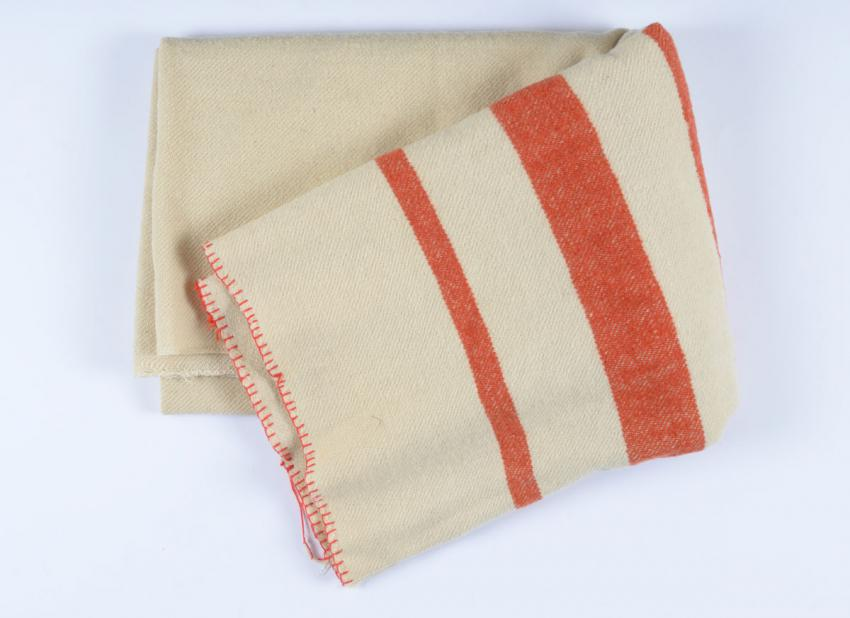 Wool Blanket used by Etti Singer in Westerbork Transit Camp