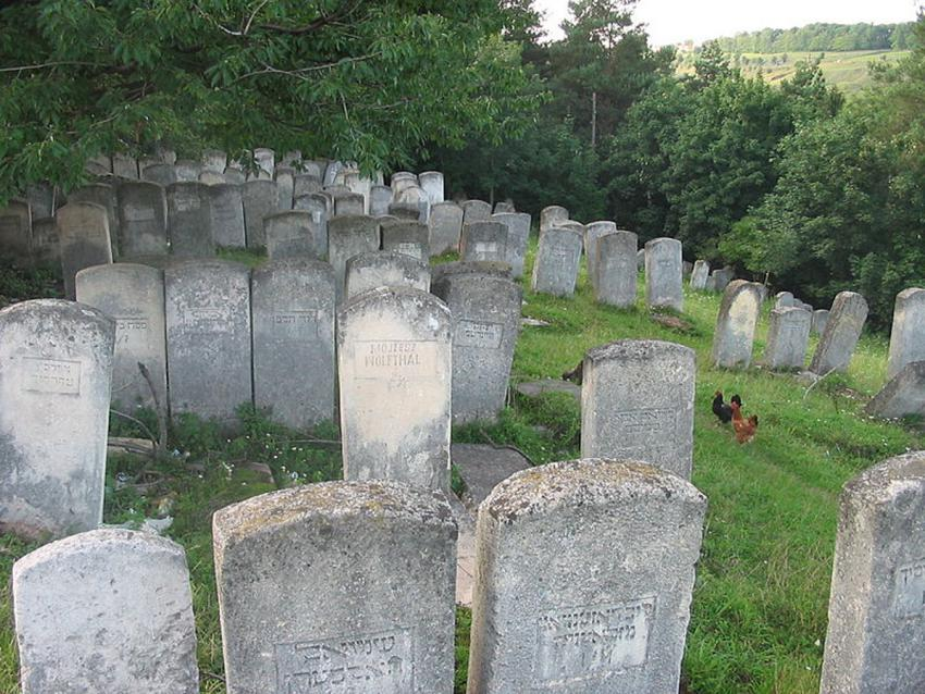 Buczacz Jewish cemtery on Baszty hill (mass murder site of the Jews)