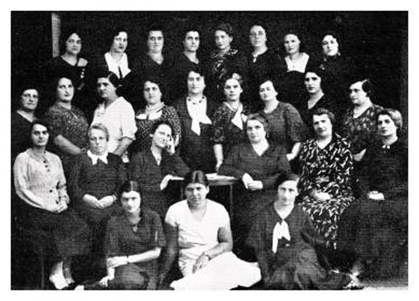 "The Women's ""WIZO"" activists, 1934 (source: Buczacz Yizkor Book)"