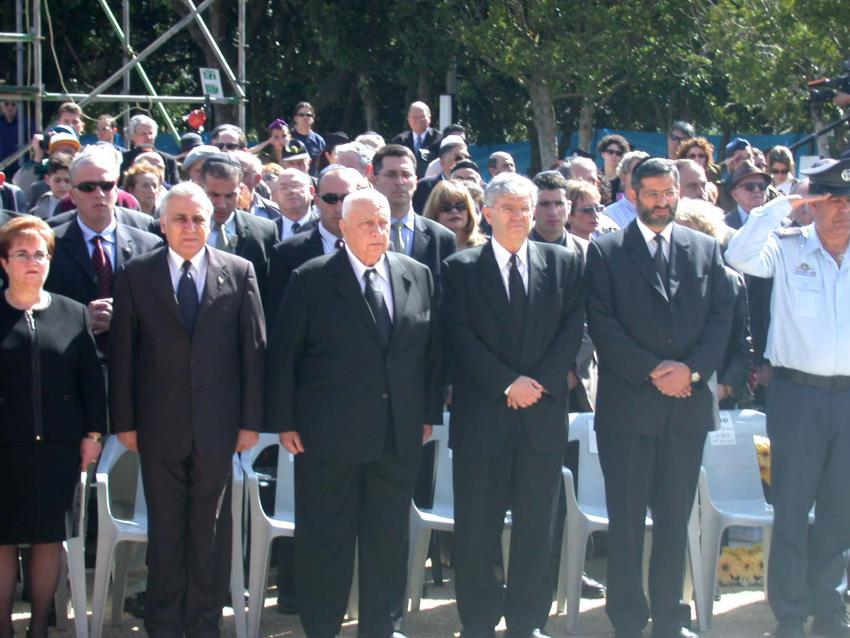 Dignitaries at the wreath-laying ceremony