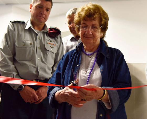 Halina Birenbaum with Major General Aharon Haliva