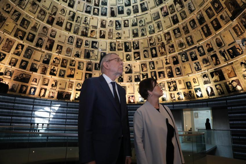The President and First Lady of Austria in the Hall of Names