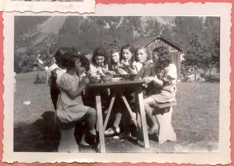 Saint Georges, France - a photograph from a children's home where Jewish children were hidden during the Holocaust