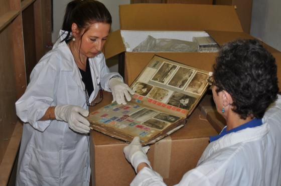 Yad Vashem receives Yaffa Eliach's personal collection which was shipped in more than 500 archival containers weighing over a ton.