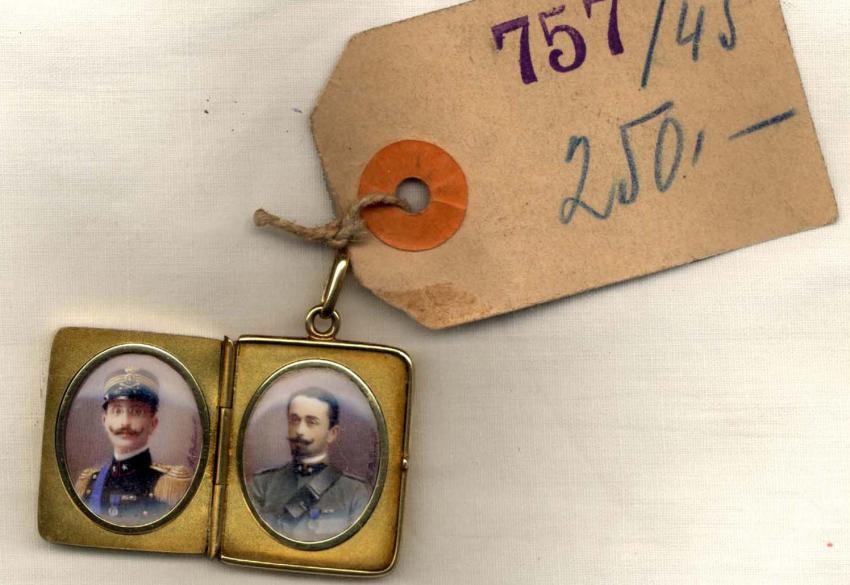 Locket Holding the Photos of the Two Lovvy Brothers, who were Killed Defending their Homeland, Italy, During World War I