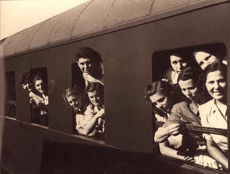 The Bericha - Children and Young Adults on a Train to Western Europe, Bratislava, Czechoslovakia, 1946