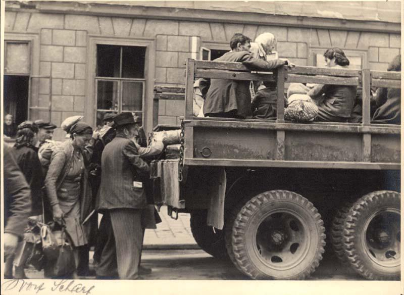 The Bericha - Survivors Boarding a Truck on Their Way to Western Europe