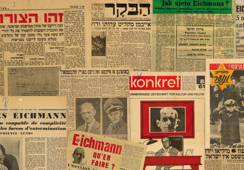 International press clippings during the trial of Adolf Eichmann, 1961. Yad Vashem Archives