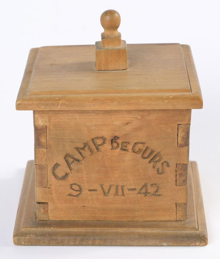Havdalah Box that Edgar Arendt-Arnetti Sent from the Gurs Detainment Camp in France to his Wife Matylda, on the Occasion of their Anniversary on 9 July 1942