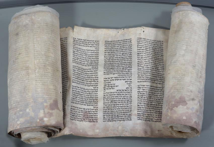 Torah Scroll Saved from Destruction in the Kristallnacht Pogrom in Leipzig, Germany
