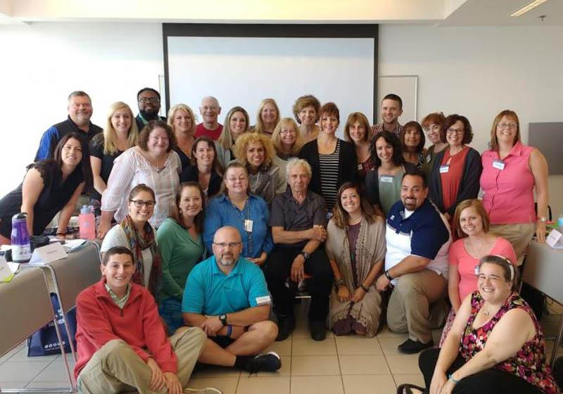 Heidi Omlor and participants at the Echoes & Reflections Advanced Learning Seminar in June 2018