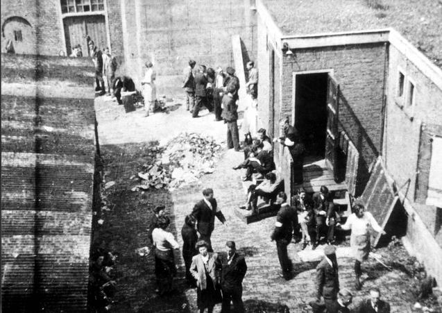 The Jewish Theater in Amsterdam during a deportation in Summer 1942
