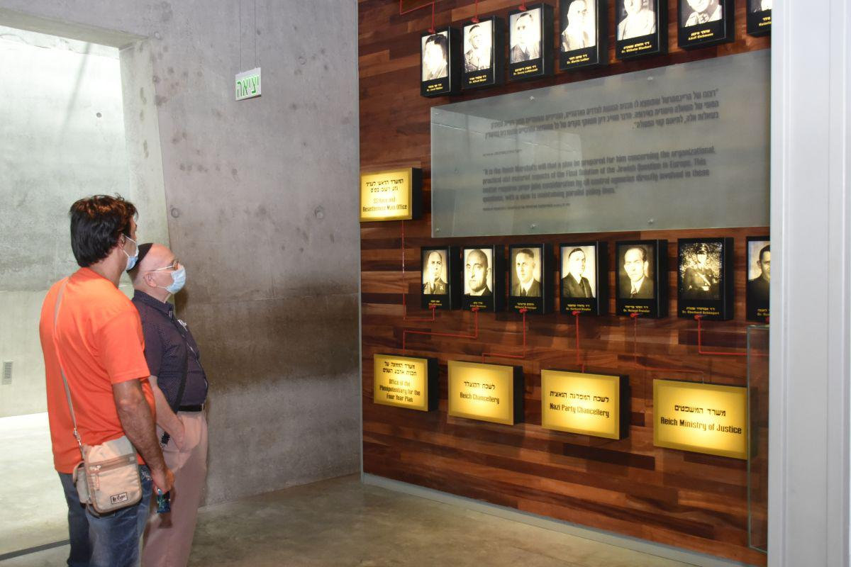 Visitors in the Holocaust History Museum at Yad Vashem