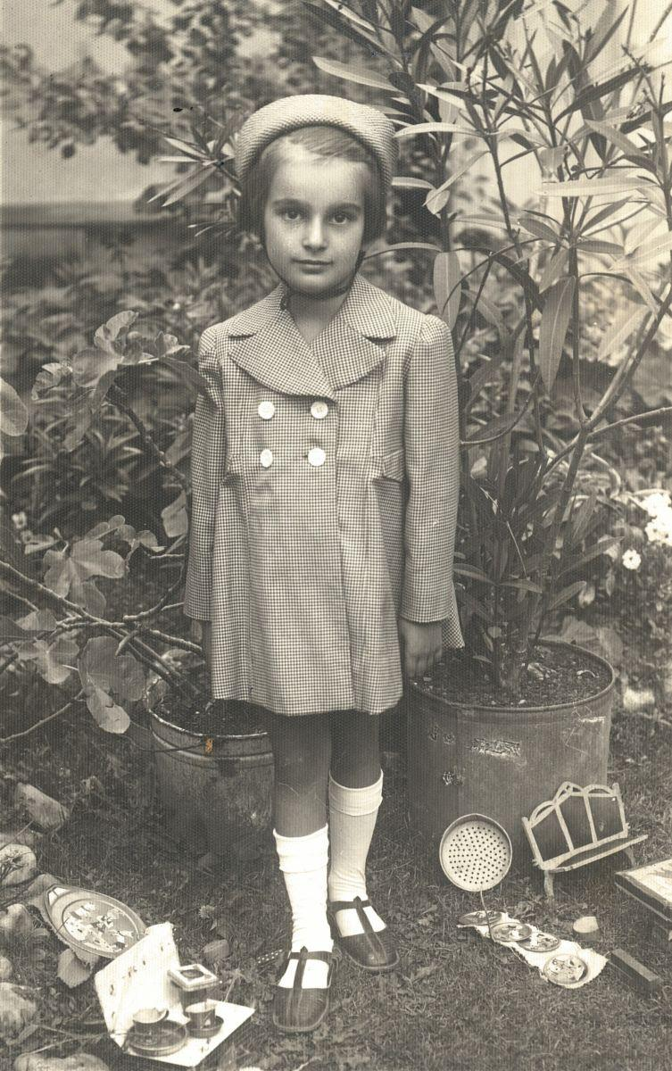 Martha at approximately age seven, after her family moved to Szamosújvár, Hungary (previously Gherla, Romania). Circa 1941.