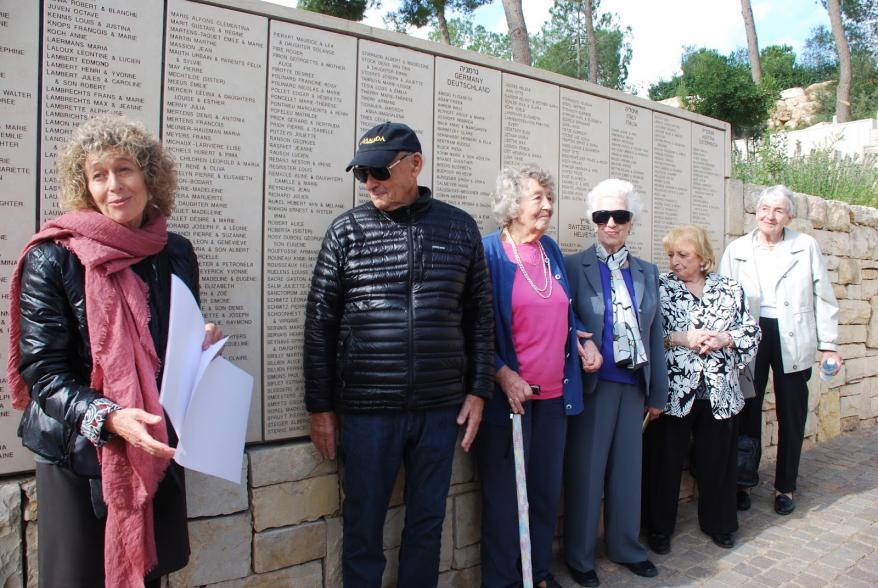 Survivors of the SS St. Louis at the Garden of the Righteous Among the Nations at Yad Vashem