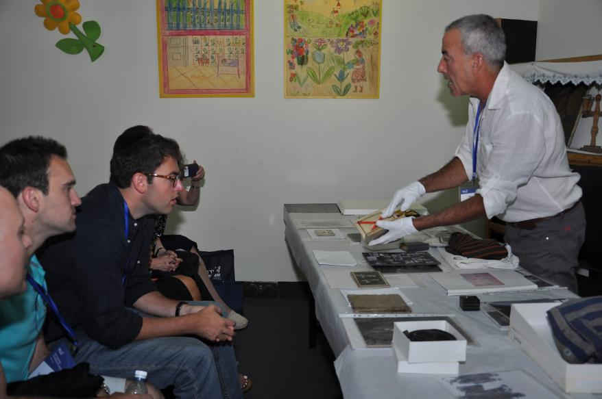 Participants of the Yad Vashem Leadership Mission received a 'Behind the Scenes' look at Yad Vashem's artifacts with  Michael Tal of the Museums Division