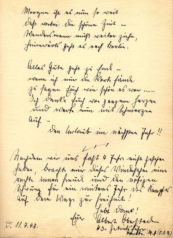 A page from the Guestbook that belonged too Rudolph Hoess, the Commandant of Auschwitz-Birkenau