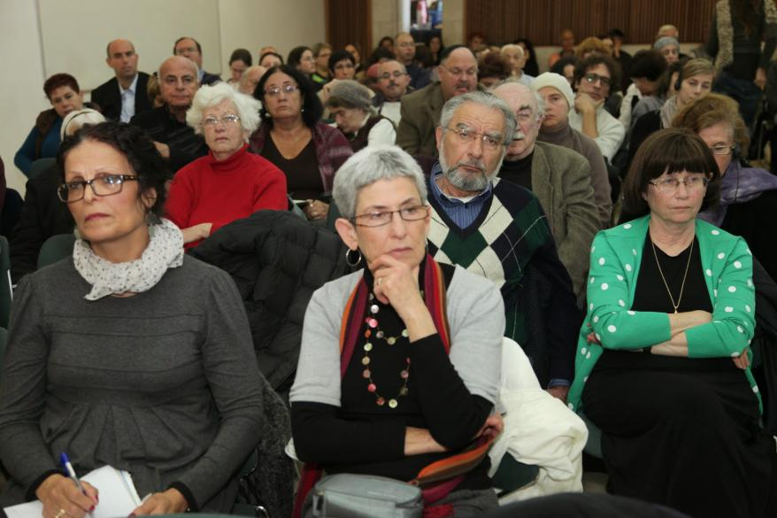 Those in attendance included Yad Vashem staff, Holocaust survivors,  international speakers and general public