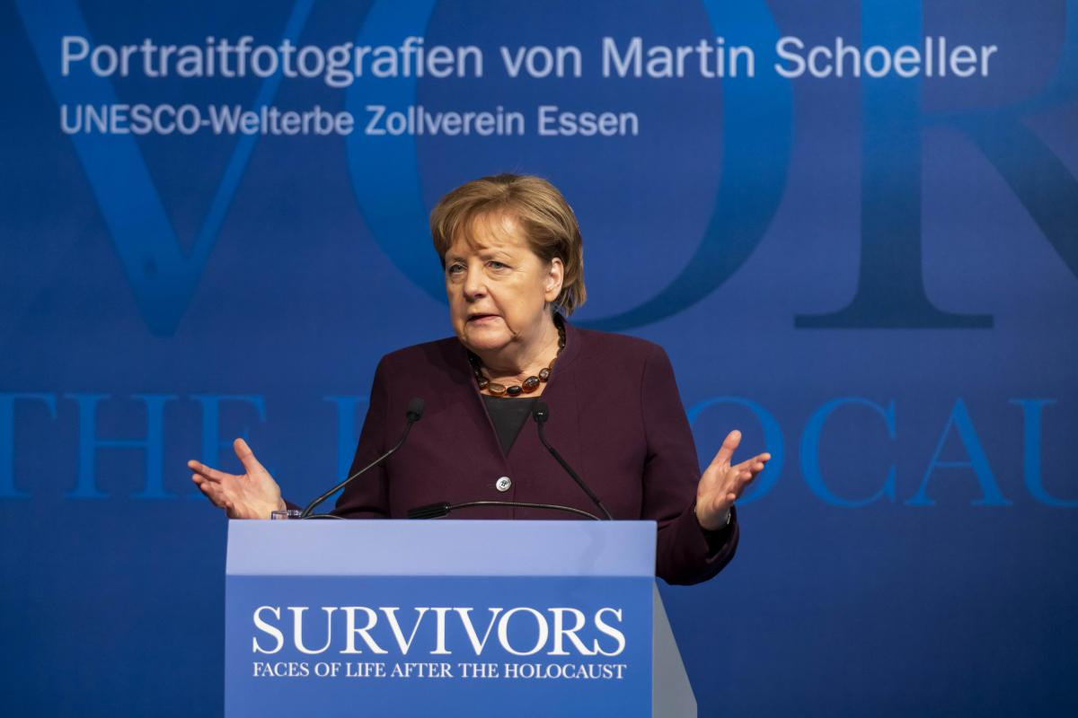 German Chancellor Angela Merkel: Safeguarding Holocaust memory for future generations.