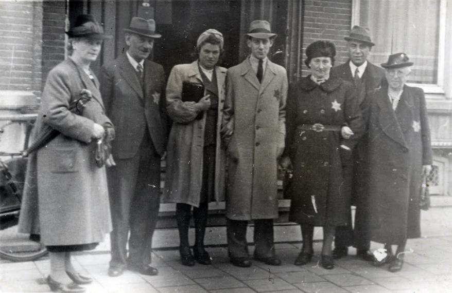 Pictured, Monique Keppler's family members at the wedding of her Aunt and Uncle Sophia and Joseph Glasbeek in Amsterdam, 1942. All the people in the photograph were murdered during the Shoah.