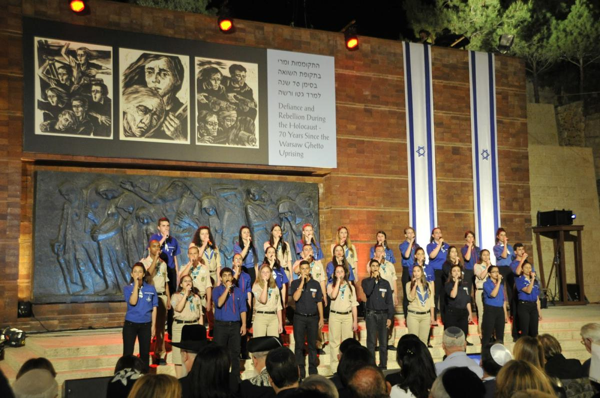 Youth Movements Choir singing the Partisans' Anthem at the Opening Ceremony