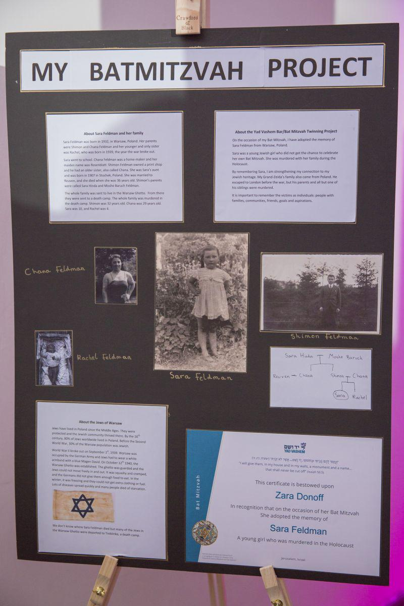 Zara Donoff created this commemorative project after being twinned with Holocaust victim Sara Feldman at Yad Vashem