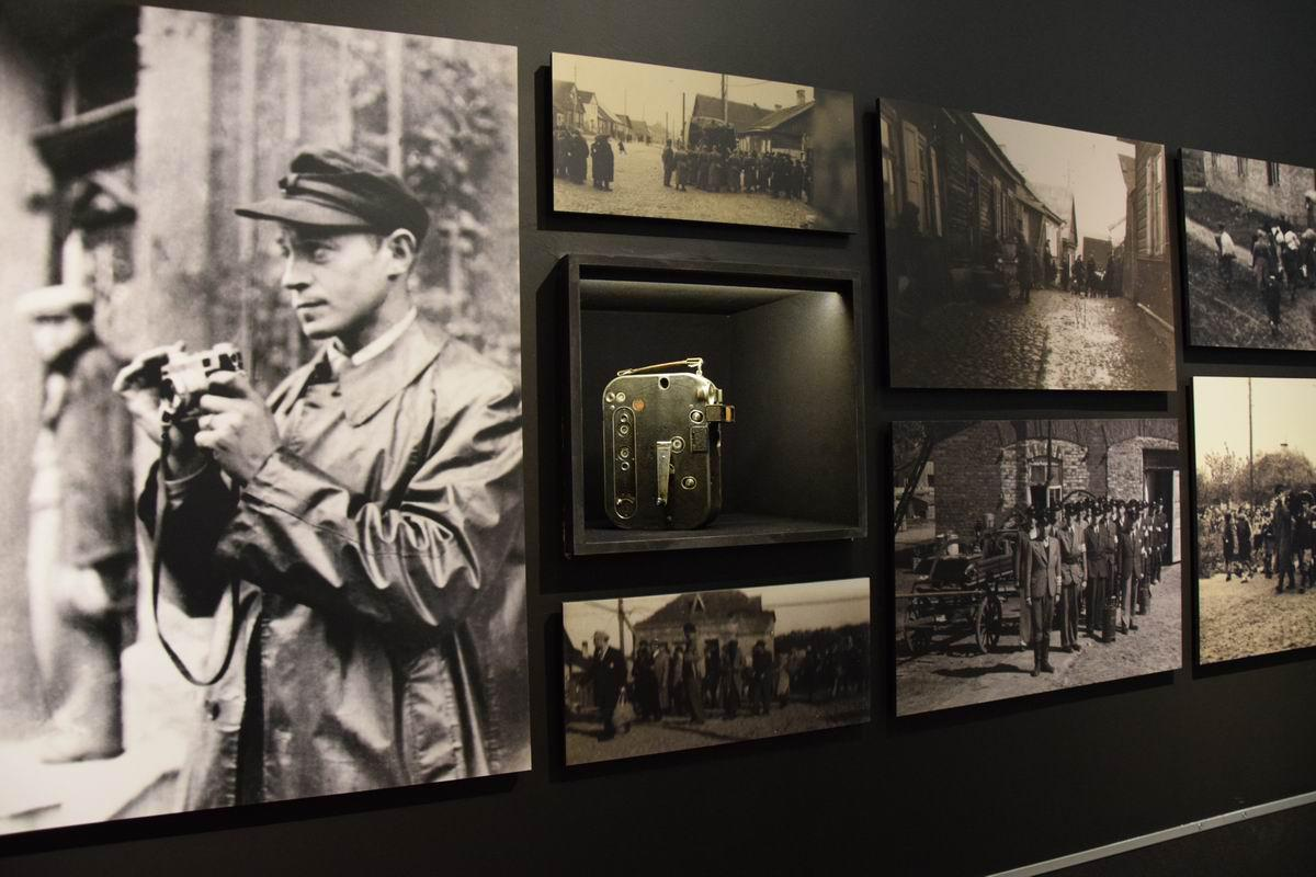 """""""Flashes of Memory"""" features a range of original newspaper clippings, posters, photos and Holocaust-era cameras"""