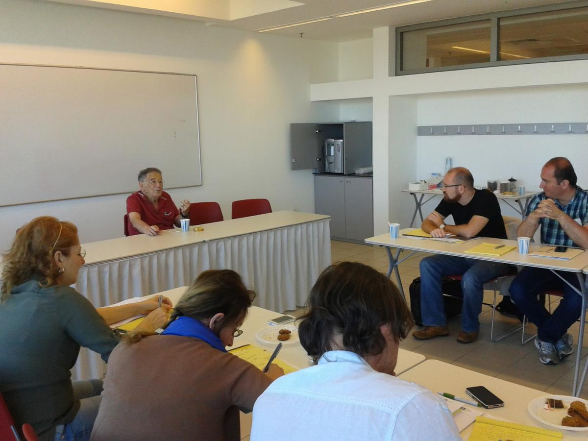 Academics from Turkey attend a session at  Yad Vashem's International School for Holocaust Studies