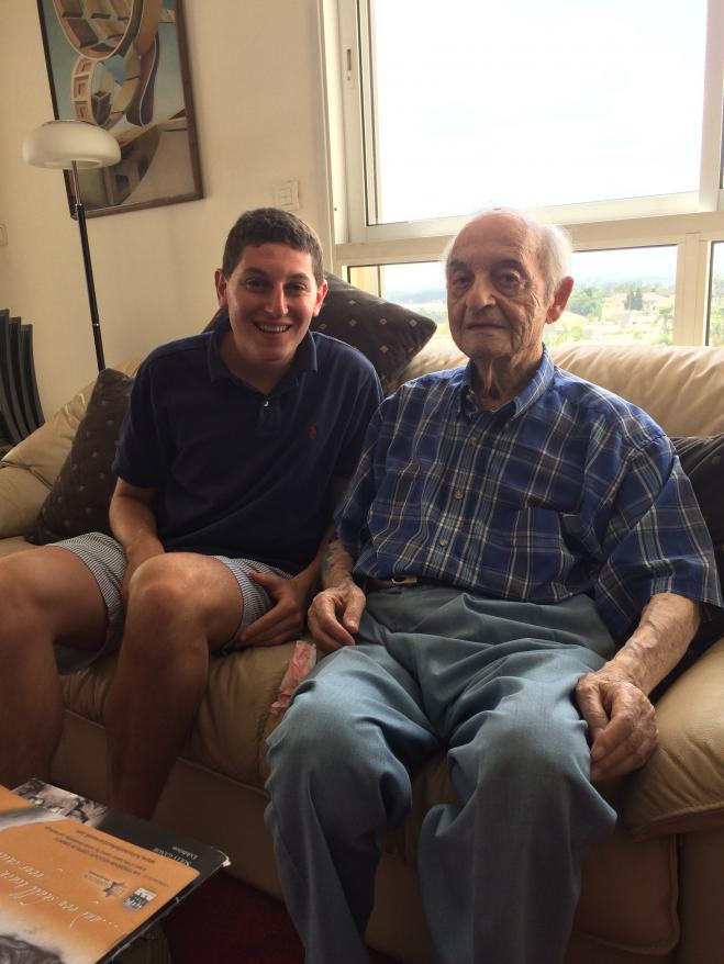Tyler Goldberger together with Holocaust survivor Solly Ganor