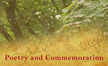 Poetry and Commemoration - April 2012