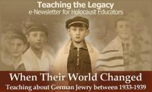 Teaching about German Jewry between 1933-1939 - November 2009