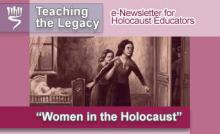 Women in the Holocaust - May 2008