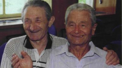 From left to right: Brothers Leonid (Leibish) and Lazar Sheiman
