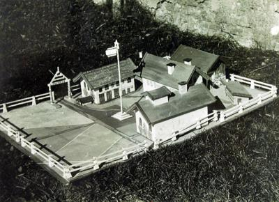 A model of the Firstbach farm made by the kibbutz members