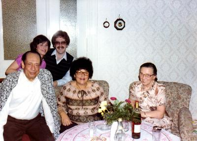 Visit of Anna Gutman's family to Dr. Helmy in Berlin, 1980