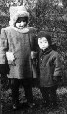 Eva Novotna, the survivor, with Milan, Herbenova's son