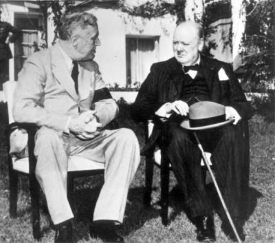 President Roosevelt and Prime Minister Churchill at the Casablanca Conference, January 1943