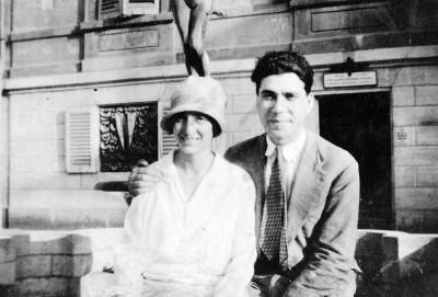 Anna and Luigi on honeymoon, 1921