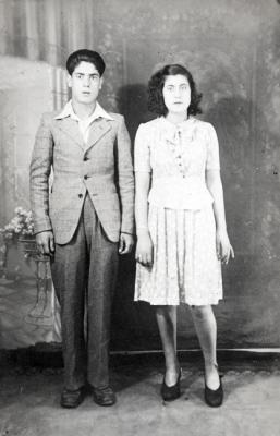 Zmira, aged 16, with her brother Victor