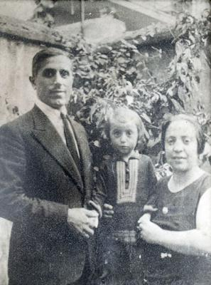 Marcel's parents, Sol and Yosef Levi, and his brother Edmond. All three were murdered at Auschwitz.