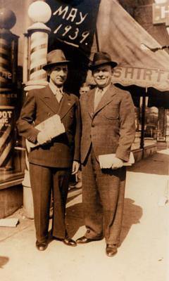 Zisha Katz pictured in New York City in 1939 just before his return to Poland