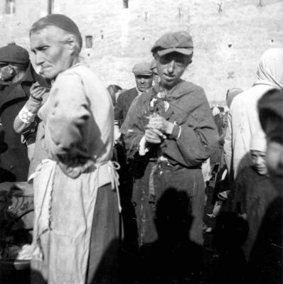 Jews in the Warsaw ghetto, September 1941